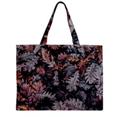 Leaf Leaves Autumn Fall Brown Zipper Mini Tote Bag