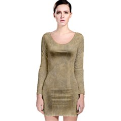 Abstract Forest Trees Age Aging Long Sleeve Bodycon Dress