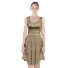 Abstract Forest Trees Age Aging Racerback Midi Dress