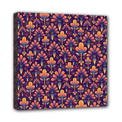 Abstract Background Floral Pattern Mini Canvas 8  x 8