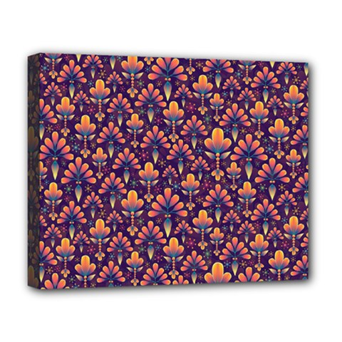 Abstract Background Floral Pattern Deluxe Canvas 20  X 16