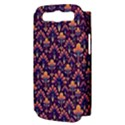 Abstract Background Floral Pattern Samsung Galaxy S III Hardshell Case (PC+Silicone) View3