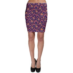 Abstract Background Floral Pattern Bodycon Skirt