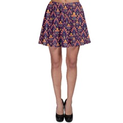 Abstract Background Floral Pattern Skater Skirt