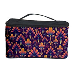 Abstract Background Floral Pattern Cosmetic Storage Case