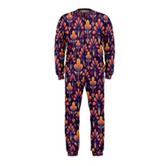 Abstract Background Floral Pattern Onepiece Jumpsuit (kids)
