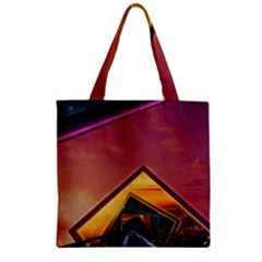 The Rainbow Bridge Of A Thousand Fractal Colors Zipper Grocery Tote Bag