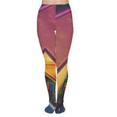 The Rainbow Bridge of a Thousand Fractal Colors Women s Tights