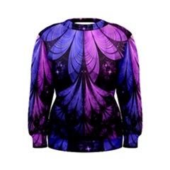Beautiful Lilac Fractal Feathers of the Starling Women s Sweatshirt