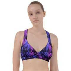 Beautiful Lilac Fractal Feathers Of The Starling Sweetheart Sports Bra