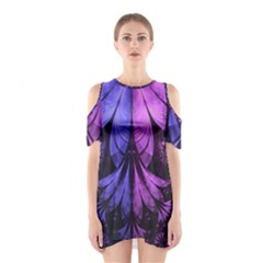 Beautiful Lilac Fractal Feathers of the Starling Shoulder Cutout One Piece
