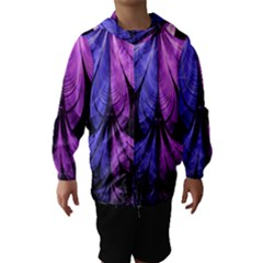 Beautiful Lilac Fractal Feathers of the Starling Hooded Wind Breaker (Kids)