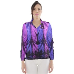 Beautiful Lilac Fractal Feathers of the Starling Wind Breaker (Women)