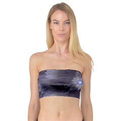 Amazing Fractal Triskelion Purple Passion Flower Bandeau Top