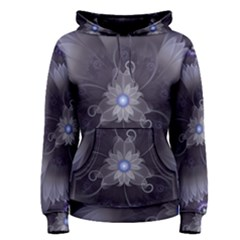 Amazing Fractal Triskelion Purple Passion Flower Women s Pullover Hoodie