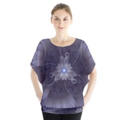 Amazing Fractal Triskelion Purple Passion Flower Blouse