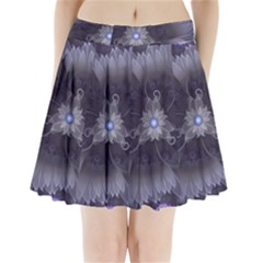 Amazing Fractal Triskelion Purple Passion Flower Pleated Mini Skirt