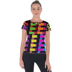Colorful Rectangles And Squares                  Short Sleeve Sports Top