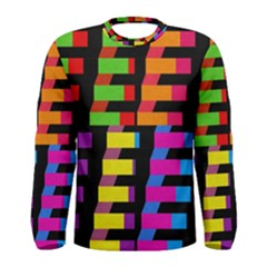 Colorful rectangles and squares                        Men Long Sleeve T-shirt