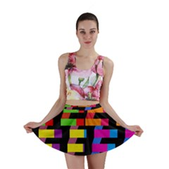 Colorful Rectangles And Squares                        Mini Skirt
