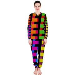Colorful rectangles and squares                        OnePiece Jumpsuit (Ladies)