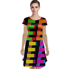 Colorful rectangles and squares                        Cap Sleeve Nightdress