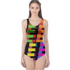 Colorful rectangles and squares                        Women s One Piece Swimsuit