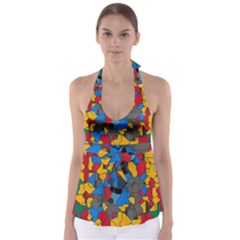 Stained glass                            Babydoll Tankini Top