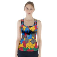 Stained glass                         Racer Back Sports Top