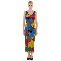 Stained glass                        Fitted Maxi Dress