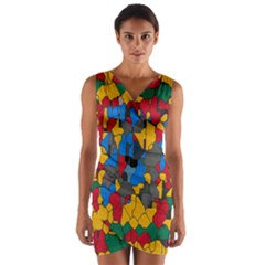 Stained glass                           Wrap Front Bodycon Dress