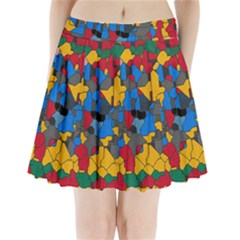 Stained glass                    Pleated Mini Mesh Skirt
