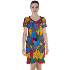 Stained Glass                        Short Sleeve Nightdress