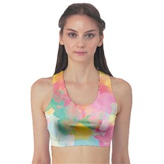 Pastel Watercolors Canvas                  Women s Sports Bra