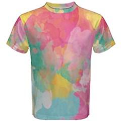 Pastel watercolors canvas                        Men s Cotton Tee