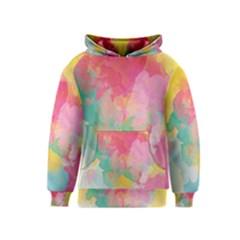 Pastel watercolors canvas                        Kid s Pullover Hoodie