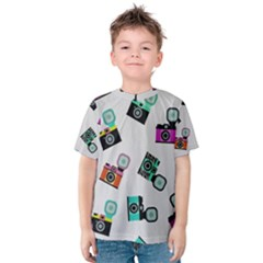 Old cameras pattern                        Kid s Cotton Tee