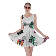 Old cameras pattern                        Skater Dress