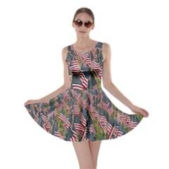 Repetition Retro Wallpaper Stripes Skater Dress