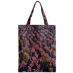 Repetition Retro Wallpaper Stripes Zipper Classic Tote Bag