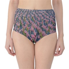 Repetition Retro Wallpaper Stripes High-Waist Bikini Bottoms