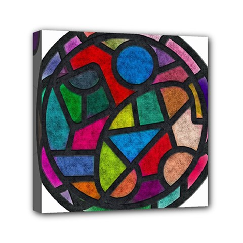 Stained Glass Color Texture Sacra Mini Canvas 6  X 6