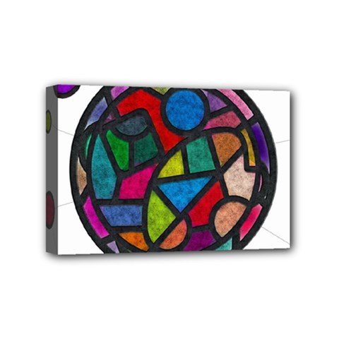 Stained Glass Color Texture Sacra Mini Canvas 6  X 4