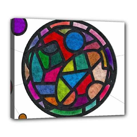 Stained Glass Color Texture Sacra Deluxe Canvas 24  X 20