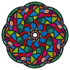 Stained Glass Color Texture Sacra Golf Umbrellas