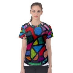 Stained Glass Color Texture Sacra Women s Sport Mesh Tee