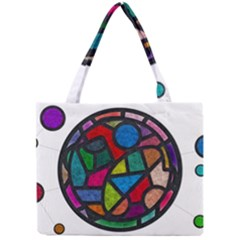 Stained Glass Color Texture Sacra Mini Tote Bag