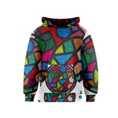 Stained Glass Color Texture Sacra Kids  Pullover Hoodie