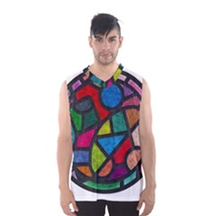 Stained Glass Color Texture Sacra Men s Basketball Tank Top