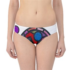 Stained Glass Color Texture Sacra Hipster Bikini Bottoms